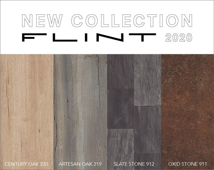Nueva paleta FLINT 2020: madera clásica y piedra natural